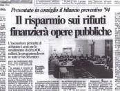 22-02.1994 - L'INCENERIORE FINANZIA LE OPERE PUBBLICHE
